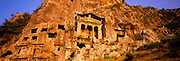 TURKEY, HELLENISTIC CULTURES TELMESSUS; city in the Lycia Kingdom 4thc.BC rockcut tombs in Ionic style; above Fethiye, on the south coast