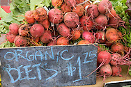 Organic Beets for Sale at Old Monterey Farmers Market, California