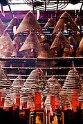 Incense at Man Mo Temple, Central, Hong Kong.