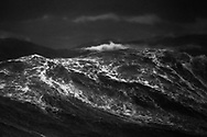 Giant swell caused by southerly winds, Cook Strait, New Zealand.