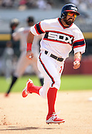CHICAGO - AUGUST 07:  Adam Eaton #1 of the Chicago White Sox runs the bases against the Baltimore Orioles on August 7, 2016 at U.S. Cellular Field in Chicago, Illinois.  The Orioles defeated the White Sox 10-2.  (Photo by Ron Vesely) Subject:    Adam Eaton
