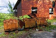 Old machinery and building in Minas de Matahambre, Pinar del Rio, Cuba.