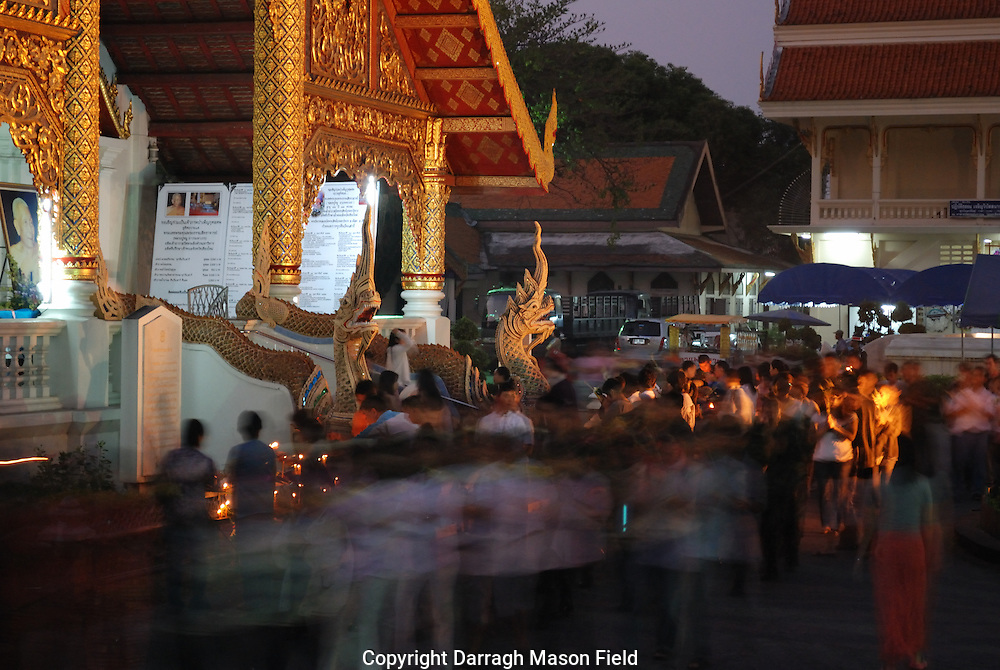 Machka Bucha as celebrated in Chiang Mai, north Thailand.