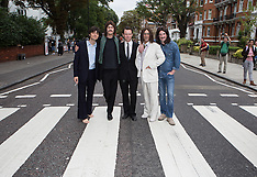 AUG 08 2014 The Beatles Abbey road 45th anniversary mass crossing