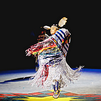 Taking in a special performance of one of the best Native American fancy dancers in the world.