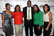 l to r: Angela Burt-Murray, Crystal Worthem, Earl Lucas, Pamela Alexander, and Michelle Ebanks at The Freedom's Sisters Luncheon sponsored by Ford Motors at The 2009 Essence Music Festival held at The New Orleans Marriott Convention Center on July 2, 2009 in New Orleans, Louisiana