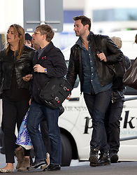 Hobbit actors, Martin Freeman and Richard Armitage between flights after arriving  on a flight from Los Angeles, Auckland, New Zealand, Sunday, November 25, 2012. Credit: SNPA /  Simon Runting