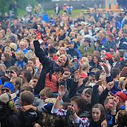 Vassendgutane spilte tidlig fredag kveld, men trakk bra med folk. Sommerfestivalen 2009. Foto: Bente Haarstad Sommerfestivalen i Selbu er en av Norges største musikkfestivaler. Sommerfestivalen is one of the biggest music festivals in Norway.