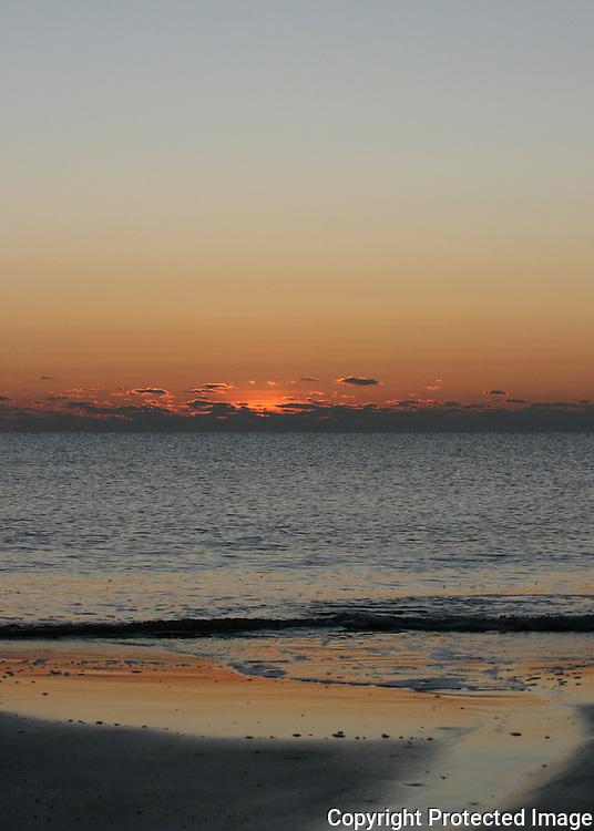 Sunrise of pastels on a Jekyll Island beach