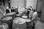 1967 - French visitors tour John Power and Son Distillery.