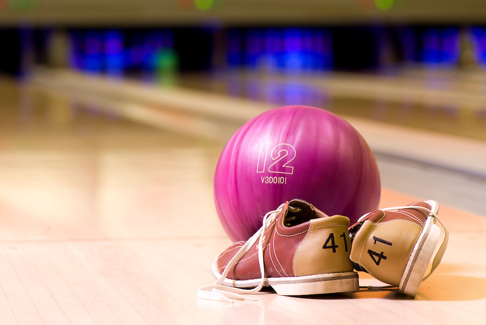 Bowling shoes, ball and lane - KUKUBARA - Bowling Center & Hotel ...