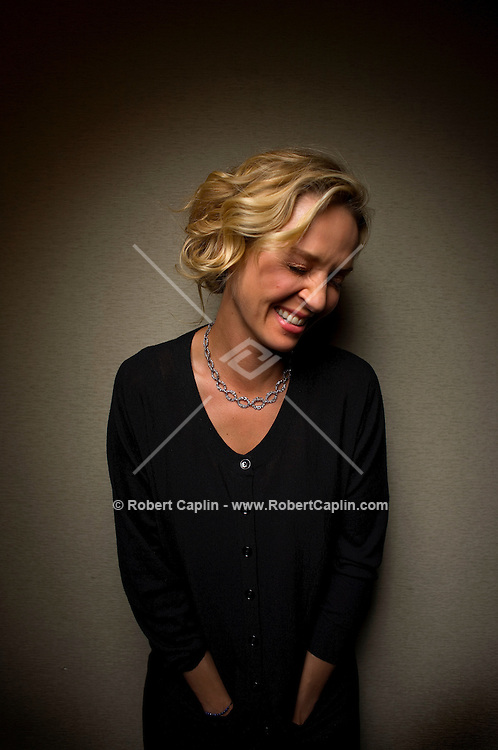 Actress Uma Thurman poses for a portrait at the Regency Hotel in New York. April 15, 2008.