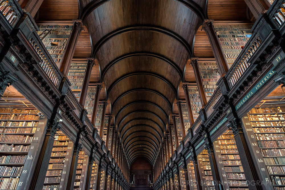 The Library of Trinity College Dublin serves Trinity College and the University of Dublin. It is the largest library in Ireland. The Library is the permanent home to the famous Book of Kells.
