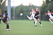 Ole Miss' Maddie Cunningham (17) vs. Texas Tech's Hayley Haagsma (17) at the Ole Miss Soccer Stadium in Oxford, Miss. on Sunday, September 2, 2012.