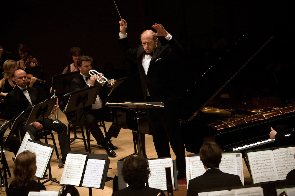 Music Director and Conductor Ivan Fischer and the Budapest Festival Orchestra at Carnegie Hall in Manhattan, NY on October 29, 2011.