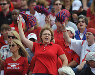 Ole Miss fan at Reynolds Razorback Stadium in Fayetteville, Ark. on Saturday, October 23, 2010.