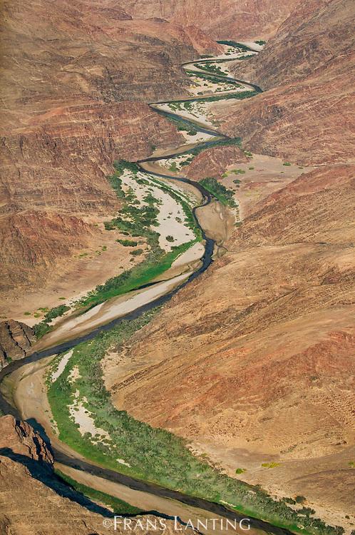 Hoarusib River (aerial), Puros Conservancy, Damaraland, Namibia