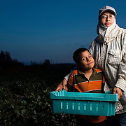 Maria, a farmworker of 24 years, is often subject to &quot;pesticide drift&quot; as tractors spray nearby fields. <br />