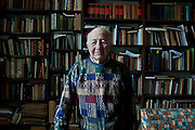 Dr. Mustafa Al-Abbady, Professor Emeritus of Greco-Roman Studies at the University of Alexandria, poses for a portrait in his personal library February 1, 2012 in Alexandria, Egypt. Al-Abbady is a renowned scholar on Cleopatra era studies. (Photo by Scott Nelson)