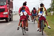 Coming home from school in Moron, Ciego de Avila, Cuba.