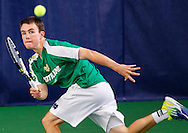 Big East men's tennis championships Notre Dame Fighting Irish vs Louisville Cardinals at Eck Tennis Pavillion in South Bend, Indiana..Photo by Michael Hickey/Big East Conference