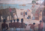 In year 1603, on the 2 June, the Dutch Admiral Joris van Spilbergen arrived in Ceylon.<br /> Painting at the DBU by Christopher Lorensz Beling. 1944