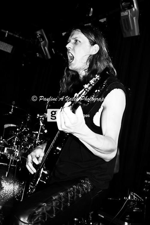 Sirenia @ Femme Metal Festival, London, Guitarist in Black & White