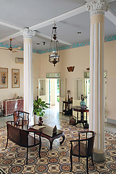 Bright and airy interior of an old colonial house, Ho Chi Minh City, Vietnam, Southeast Asia