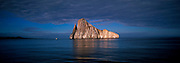 ECUADOR, GALAPAGOS ISLANDS two spectacular volcanic plugs form Kicker rock, a favorite scuba diving site located off San Cristobal Island