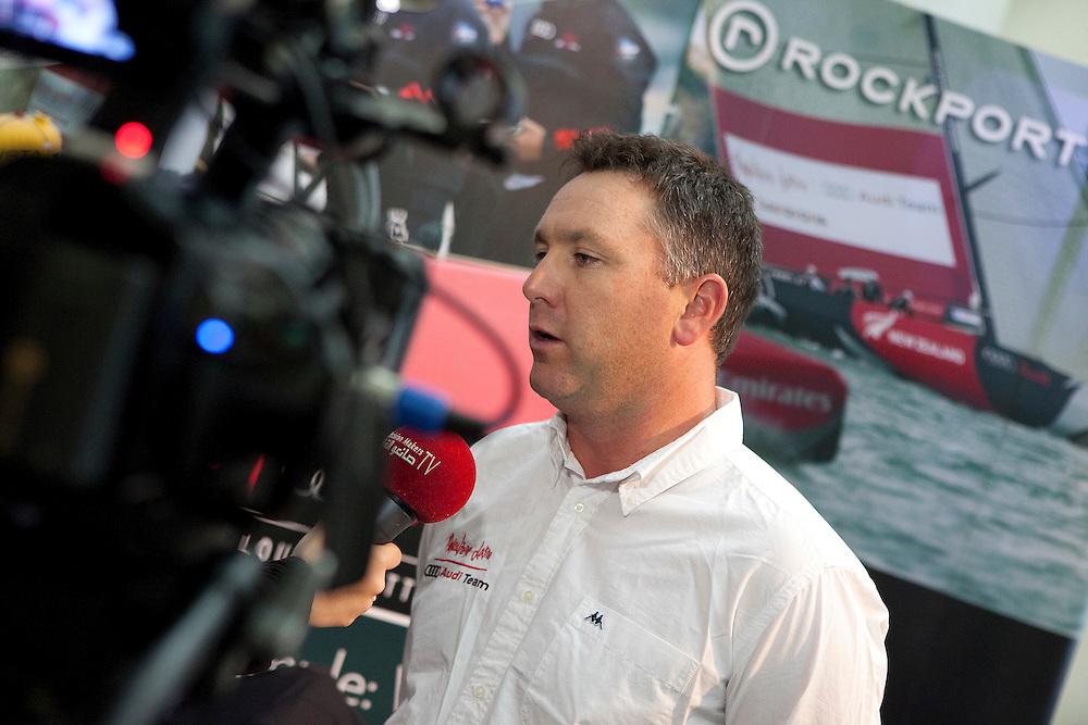 Gavin Brady talks to media at the Rockport Gala Dinner at the Louis Vuitton Trophy Dubai. Dubai, United Arab Emirates, 22 November 2010. Photo: Subzero Images/Mascalzone Latino