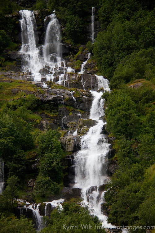 Europe, Norway, Olden. Volefossen Waterfall in Jostedalsbreen National Park.