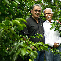 Portrait of Don Francisco Serracin, founder of Don Pachi Estate, and his son.