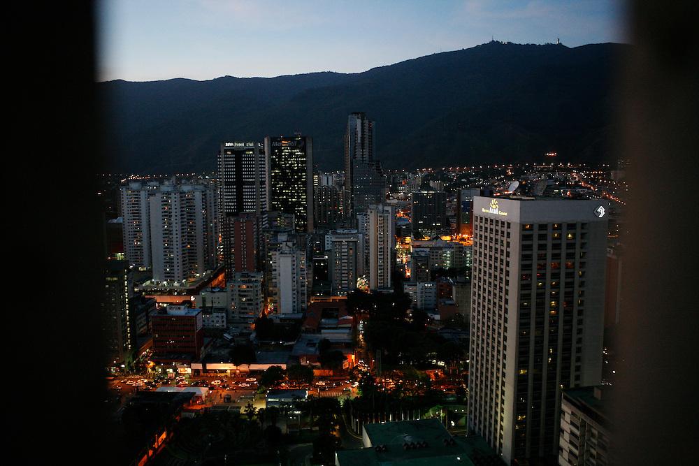 Caracas at night.