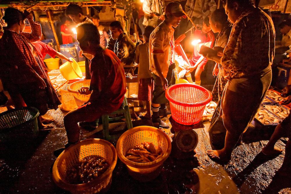 Wholesale Fish Market, Yangon, Myanmar.