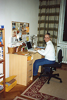 Mom in her Vienna office