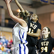 Delaware Junior Forward (#11) Elena Delle Donne scores 31 points during VCU delaware game at the The Bob Carpenter Center In Newark Delaware Thursday Night.