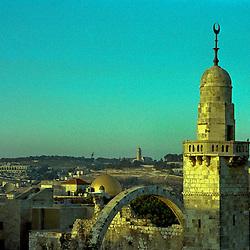 Sunset over the religions, Old City, Jerusalem, Israel