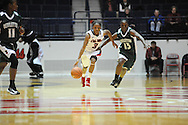 "Ole Miss Lady Rebels' Valencia McFarland (3) vs. Mississippi Valley State's Davina Jefferson (15) at the C.M. ""Tad"" Smith Coliseum in Oxford, Miss. on Tuesday, November 27, 2012."