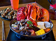 Lobster Pot with Taiwanese Popcorn Chicken at Pot Tea Social House  on Friday, August 8, 2014.  L.E. Baskow