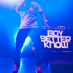 London,UK - 20 April 2013: Tempa T jumps on stage during the Boy Better Know gig at The Forum in London