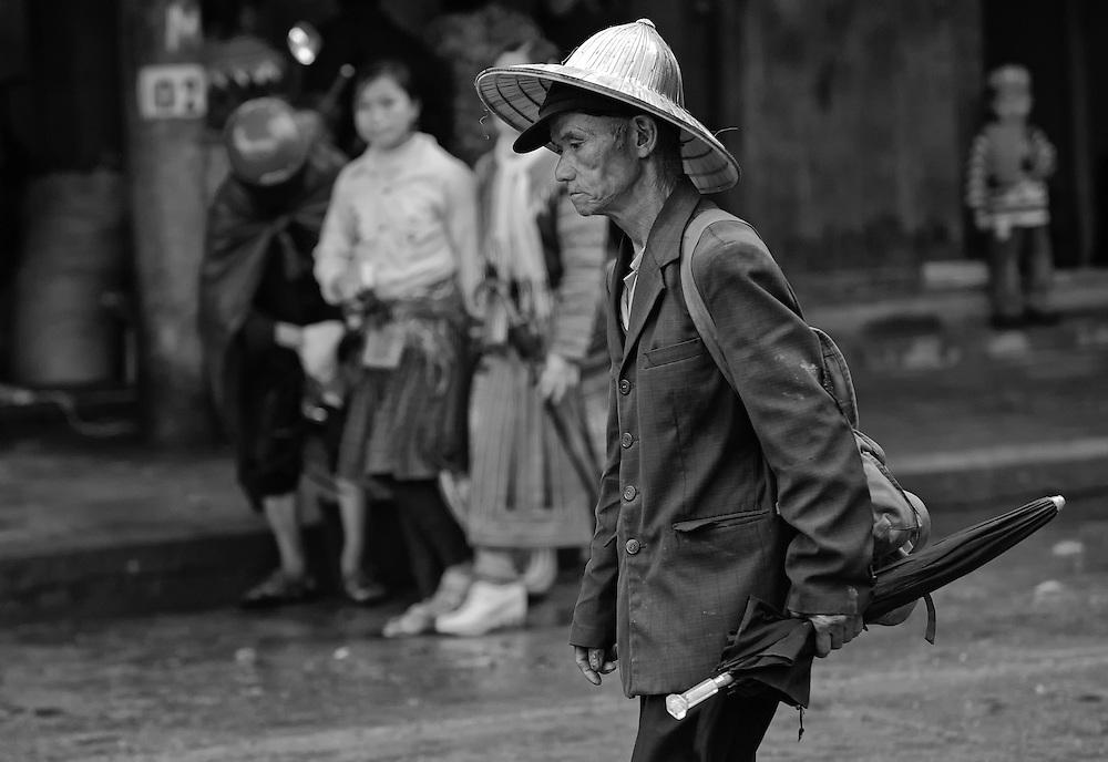 A Flower Hmong man at the Bac Ha market, Vietnam.