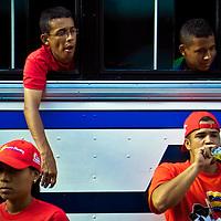 VENEZUELAN POLITICS / POLITICA EN VENEZUELA<br /> <br /> March supporters of Hugo Chavez / Marcha de simpatizantes de Hugo Chavez<br /> Caracas - Venezuela 2007<br /> (Copyright &copy; Aaron Sosa)