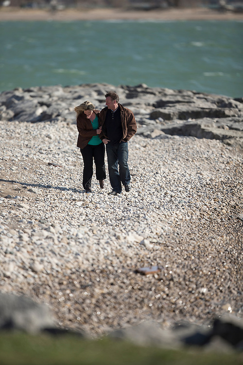 Photo of Rhonda Scholtz and family in Goderich, Ontario April, 23, 2016.<br />