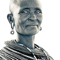 A Samburu woman in northern Kenya