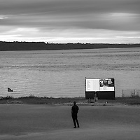Tiger Woods competes at the 2015 US Open championship at Chambers Bay in University Place, Washington.