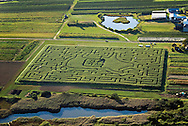 Aerial, Farm Maze, New York,  Southampton, South Fork, Long Island, Atlantic Coast