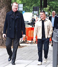 SEP 11 2013 EDL leaders Tommy Robinson and Kevin Carrol appear in court