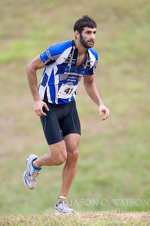 CHARLOTTESVILLE, VA - August 17, 2008 - CYRUS DREYER (41) in the 2008 Charlottesville XTERRA Triathlon was held at Walnut Creek Park in Albemarle County near Charlottesville, Virginia, USA.