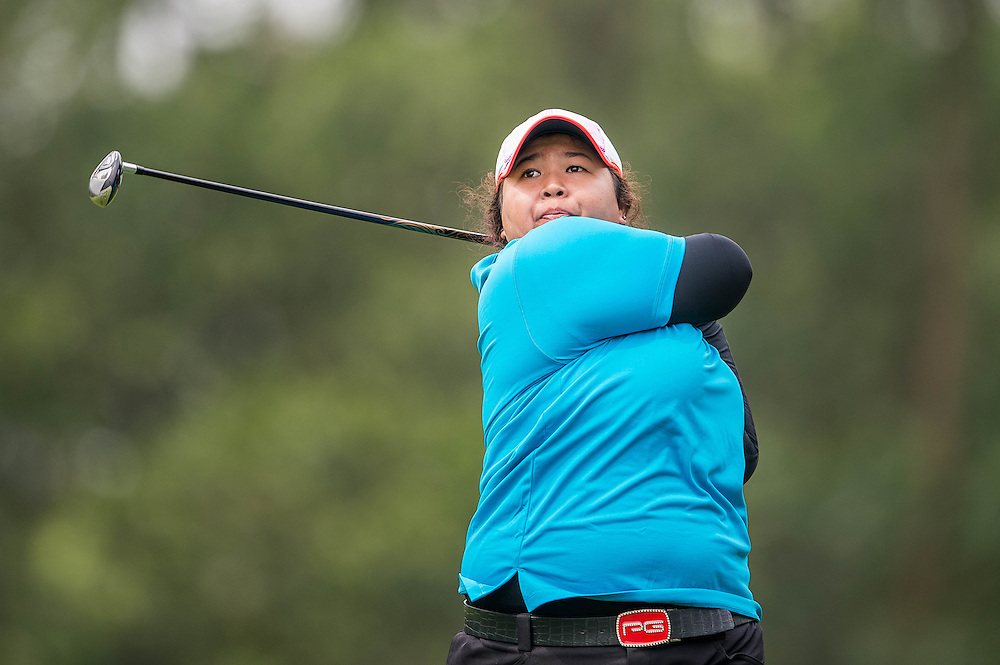 Nur Durriyah Damian of Malaysia in action during day three of the 10th Faldo Series Asia Grand Final at Faldo course on 04 March of 2016 in Shenzhen, China. Photo by Xaume Olleros.
