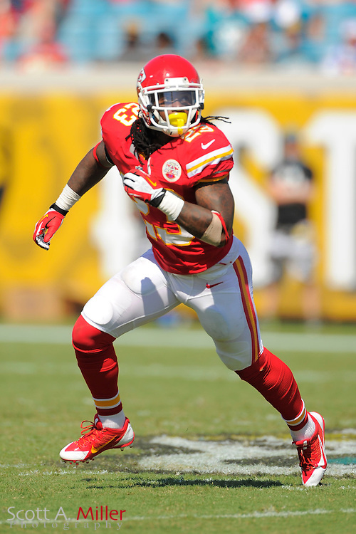 Kansas City Chiefs free safety Kendrick Lewis (23) during the Chiefs 28-2 win over the Jacksonville Jaguars at EverBank Field on Sept. 8, 2013 in Jacksonville, Florida. The <br /> <br /> &copy;2013 Scott A. Miller